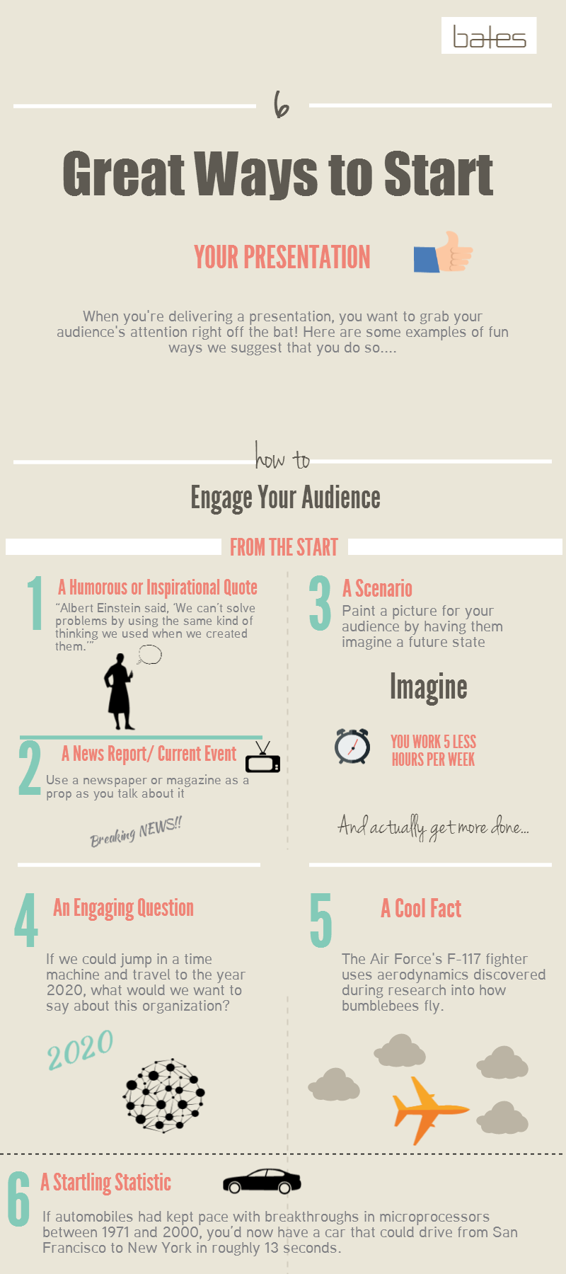 Six Great Ways To Start Your Presentation
