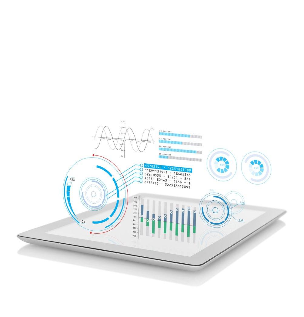 iPad with Data_iStock-952565628